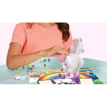Spin Master Gamez English Unicorn Surprise Board Game With Interactive Magical Unicorn